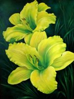 Yellow Daylilies by TernFeather