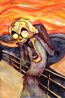 Munch_The Reflected Scream by zero-scarecrow13