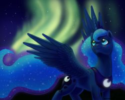 Princess Luna's Aurora by LaurenMagpie