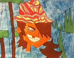 My Evil in a Bacon Hat Painting (Mal) by Fishtank0Productions