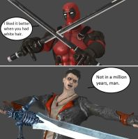 Injustice: Deadpool vs Dante by xXTrettaXx