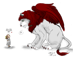 Fiorella vs. The Winged Lion by ImagenAshyun
