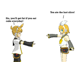 Kagamine Fight by kinimoto7