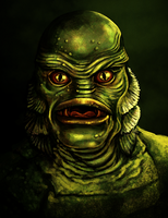 Creature from the Black Lagoon portrait by SamRAW08