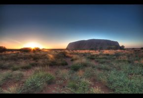 Sunrise at Uluru. by pmd1138