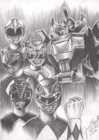 Mighty Morphin Power Rangers by doctoreggroll