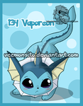 Eeveelutions: Chibi Vaporeon by Veemonsito