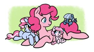 Pinkie and Her Daughters by kilala97
