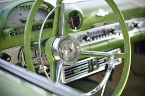 Classic Wheels: Green T-Bird by theCrow65