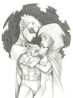 Robin X Raven For Murof by Rodjim