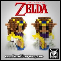 Princess Zelda by VoxelPerlers
