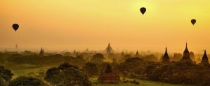 Sunrise in Bagan 2 by CitizenFresh