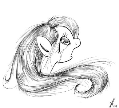 weeping Fluttershy by YKChiropter