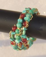 September Hues Bracelet Closeup 4 by Windthin