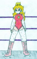 Masked Wrestler Peach by Jose-Ramiro