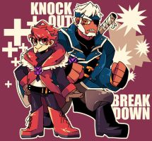 tfp: Human Knockout and Breakdown by c0ralus