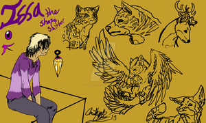 Ref Pic: Issa the Shape Shifter by AmethystClaw
