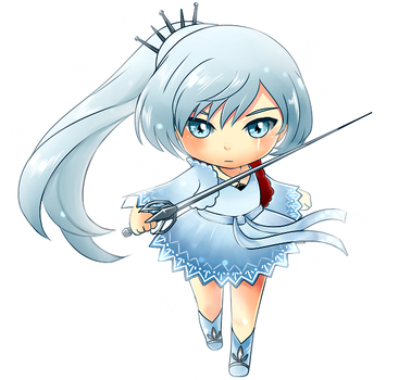 Weiss RWBY Commission Sample by FirstiArt