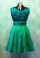 Poison Ivy dress back by SweetSaurona