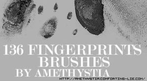 136 fingerprints brushes by Amethystia2006