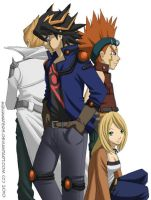YuGiOh 5Ds - Part of the Team by AquaWaters