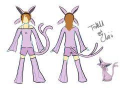 PKM: Espeon Cosplay Design by TamRaki