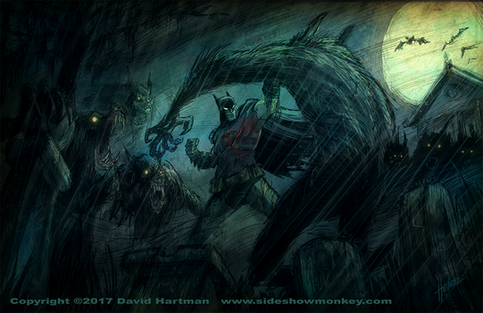 THE GRAVEYARD BAT by Hartman by sideshowmonkey