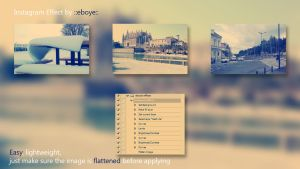 Instagram Photoshop Action by eboye