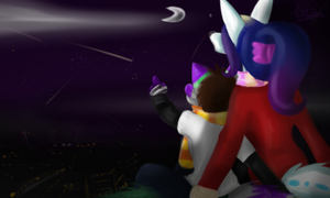 Meteor Showers with My Hubby by InvaderSonicMx