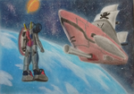 Mecha and Spaceship by Setsky