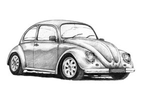 VW Beetle - California Style by inspired-imaging