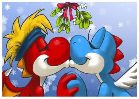 Mistletoe Kiss by bittenhard