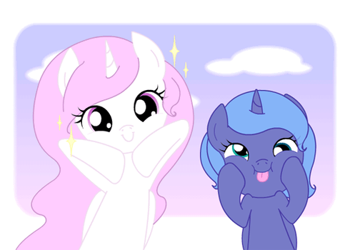 Alicorn sisters (GIF2) by Forever-Pegasister