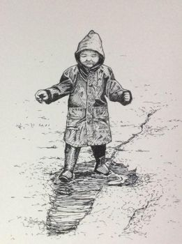 Boy in Puddle by Potvos