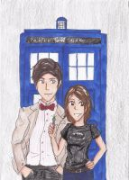 ART TRADE: THE 11TH DOCTOR by Lord-Coconut