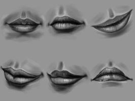 Practice-- Lips (female, close mouth) by ewmh1