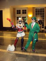 Harley and The Riddler by potterpuppetpal