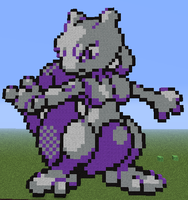Minecraft - Mewtwo by Unstable-Life