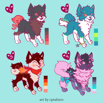 Dog Adopts 2 [closed] by redroseadopts