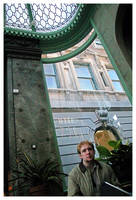 Steve in the Cooper Hewitt by dragonorion