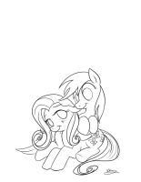 Flutter-Dash Nibble Line by bunnimation