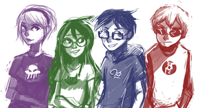 homestuck kids by schellibie