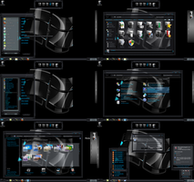 windows 7 theme black glass by ToxicoSM