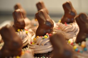 Easter Chocolate Cupcakes by Disneys-Buffy