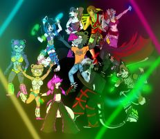 One big rave party. by KatWithKnives