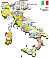 Chibi Italian Regions by pixie-rings