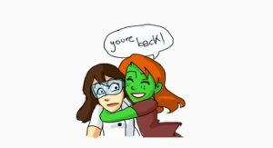 Labrat and the team 1_Miss Martian by PauPaufg