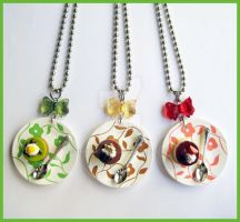 Desserts Necklaces by cherryboop