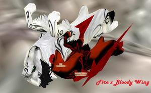 Fire x Bloody Wing by IcyBloodRaven