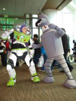 Buzz Lightyear and Bender Futurama 2012 by OlyRider